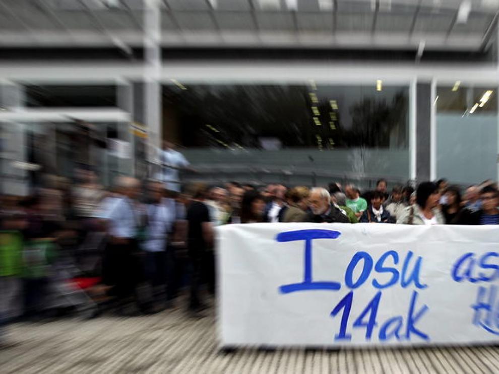 Manifestación por la libertad del secuestrador de Ortega Lara