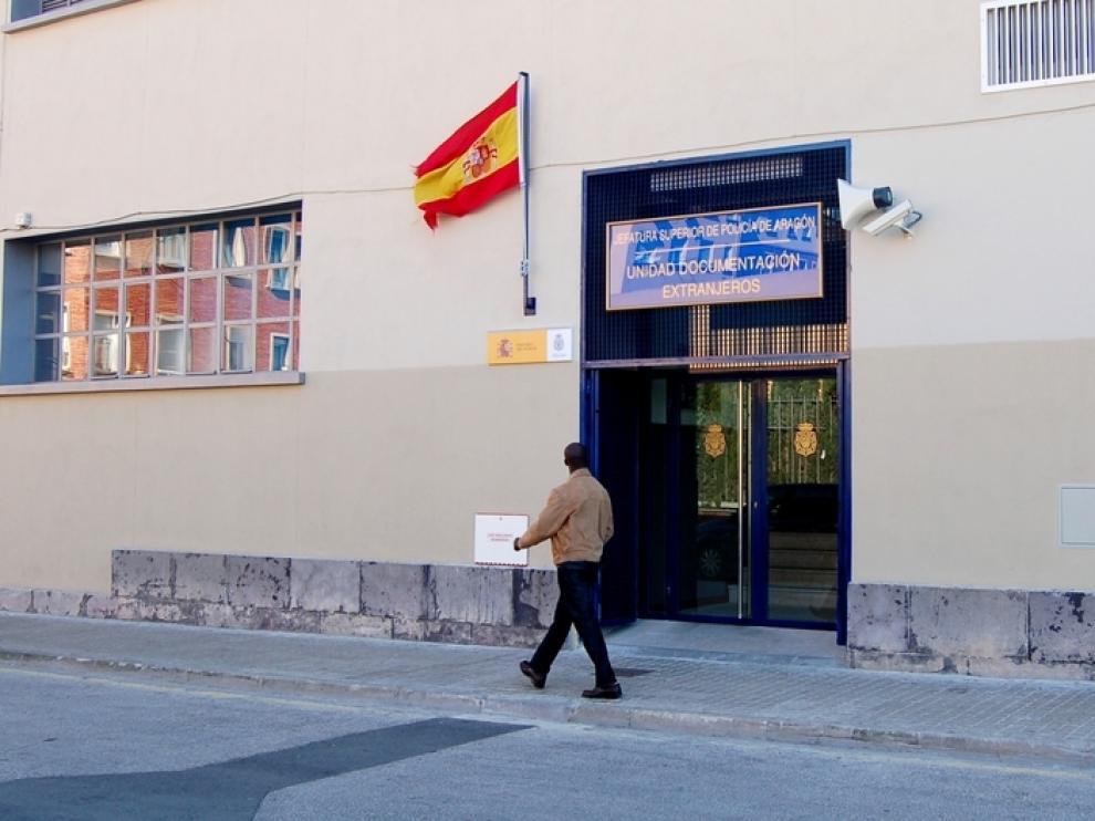 Imagen de archivo de la Unidad de Documentación de Extranjeros de Zaragoza