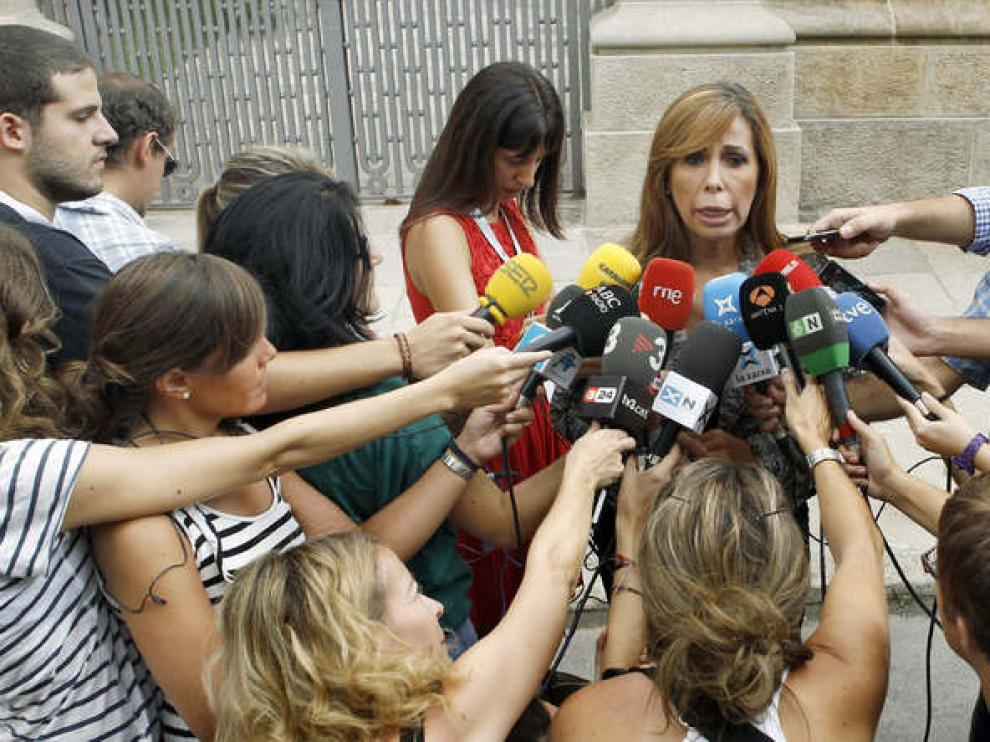 Alicia Sánchez Camacho (PP) durante la Diada de Cataluña