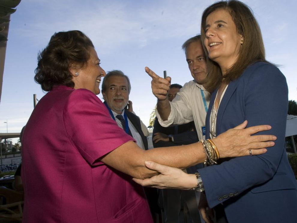 Antonio Beteta, junto a Rita Barberá, González Pons y Fátima Báñez este viernes.