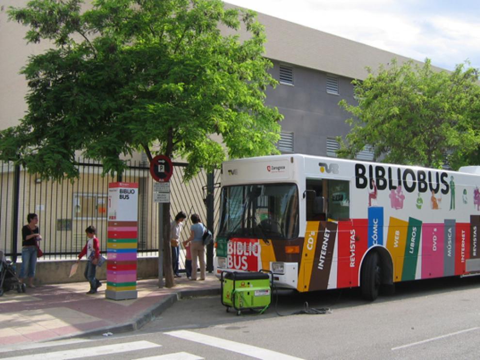 Bibliobús en Zaragoza