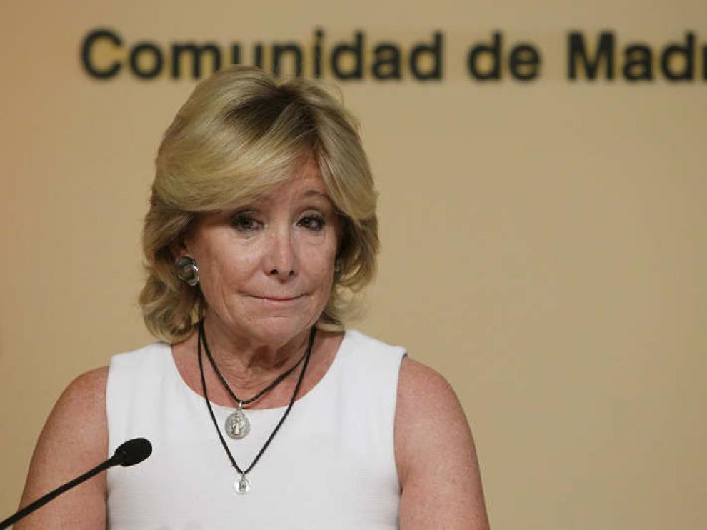 La presidenta madrileña ha anunciado su dimisión