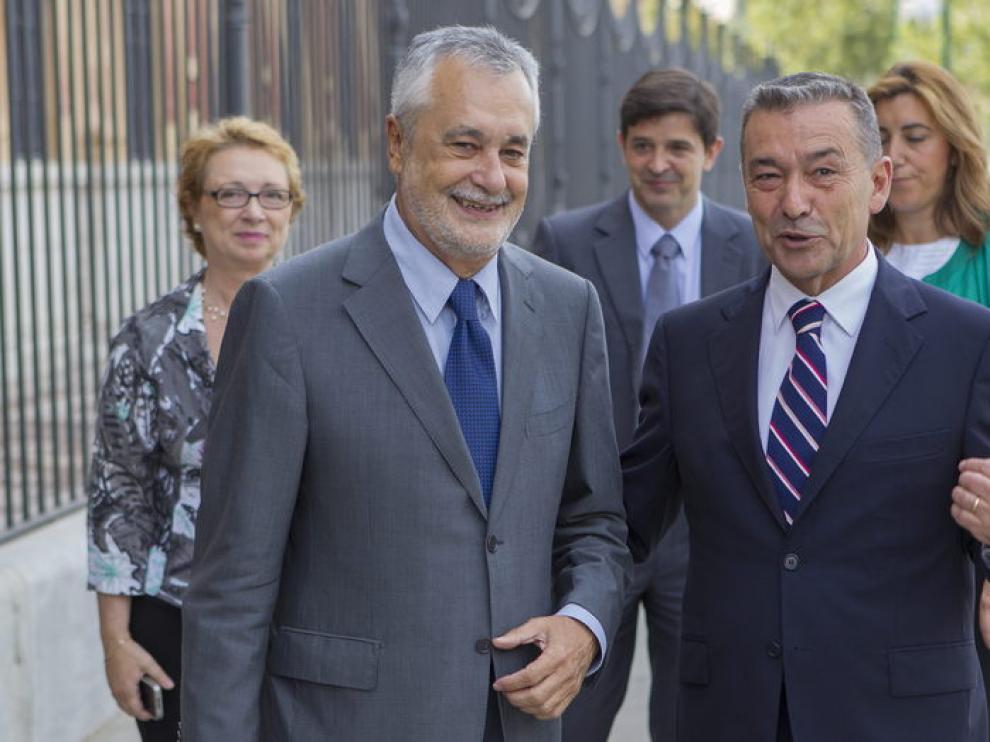 Los presidentes de Andalucía y Canarias, Griñán y Rivero