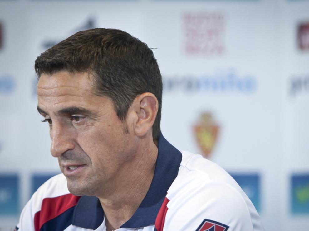 Manolo Jiménez en rueda de prensa