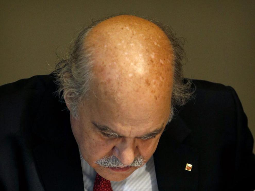El consejero de Economía y Finanzas, Andreu Mas-Colell, en la reunión de este martes.