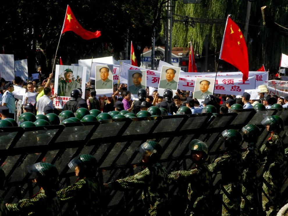 Protestas en China contra Japón por la disputa territorial