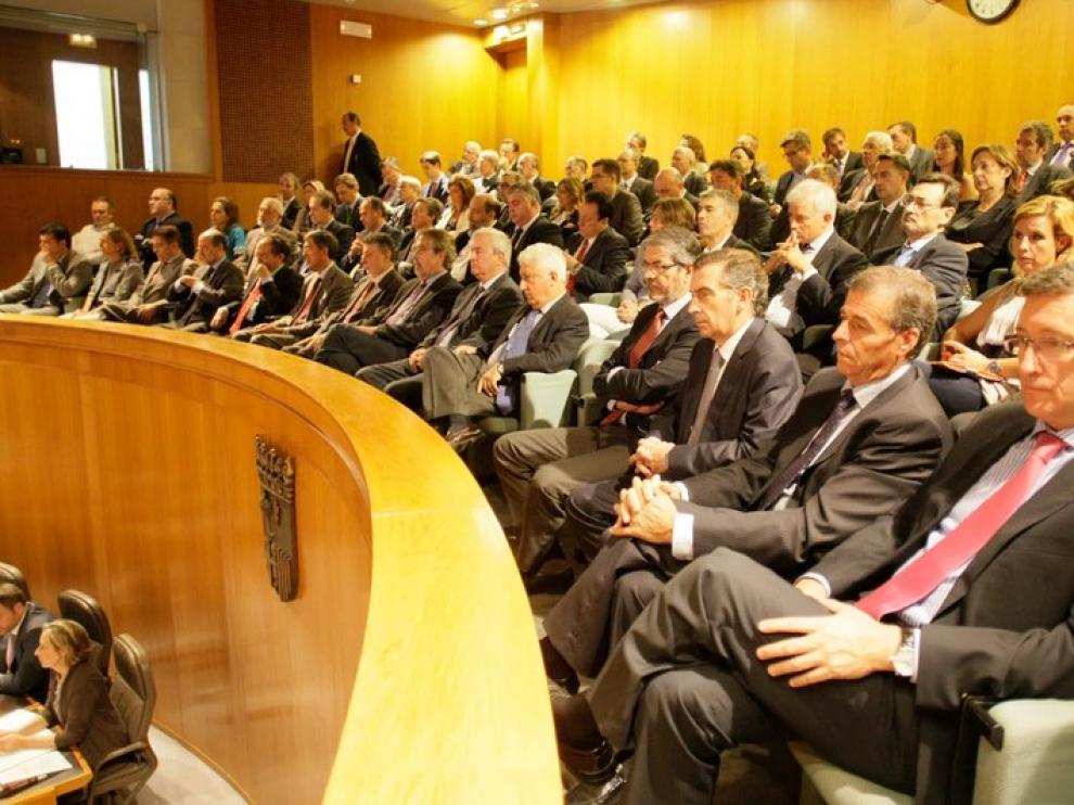 Imagen de archivo de un pleno de las Cortes de Aragón
