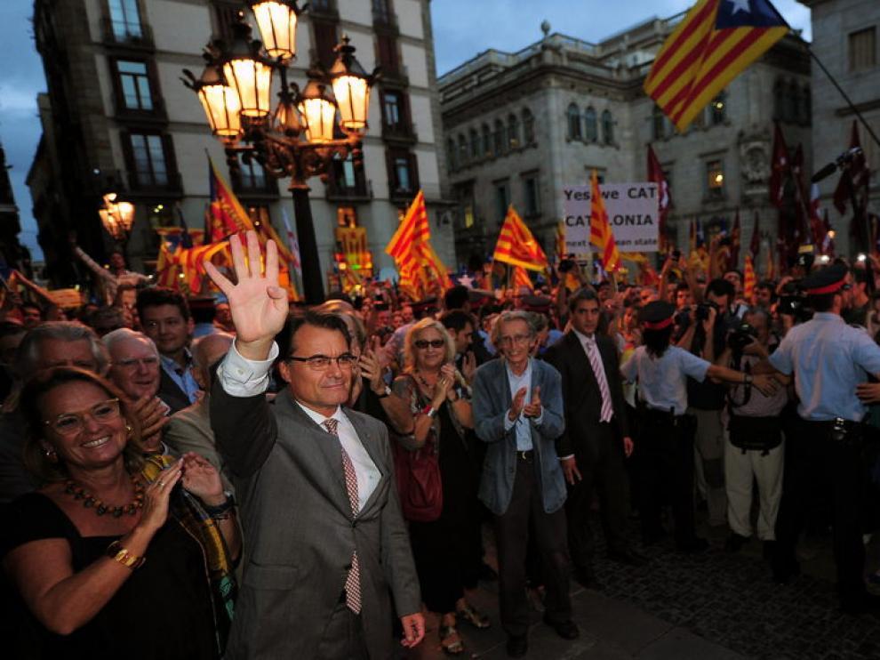 Recibimiento en Barcelona