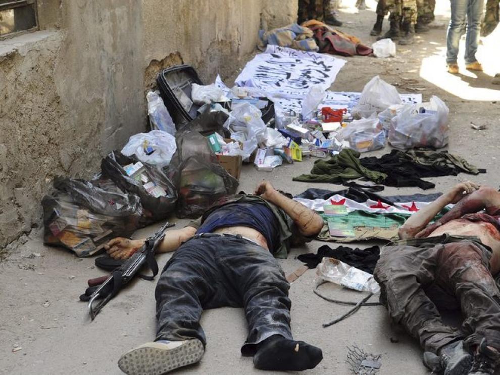 Cuerpos de supuestos rebeldes en Damasco