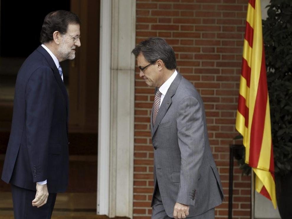 Rajoy recibe a Mas en la Moncloa
