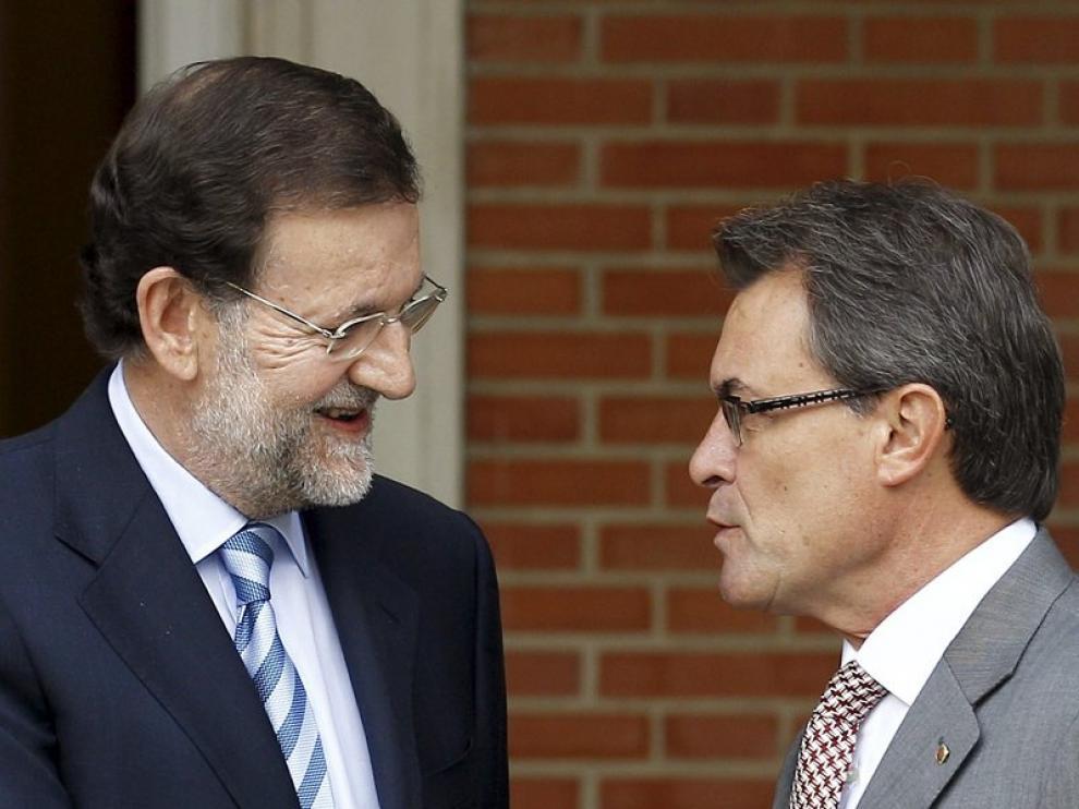 Rajoy recibe a Artur Mas en la Moncloa