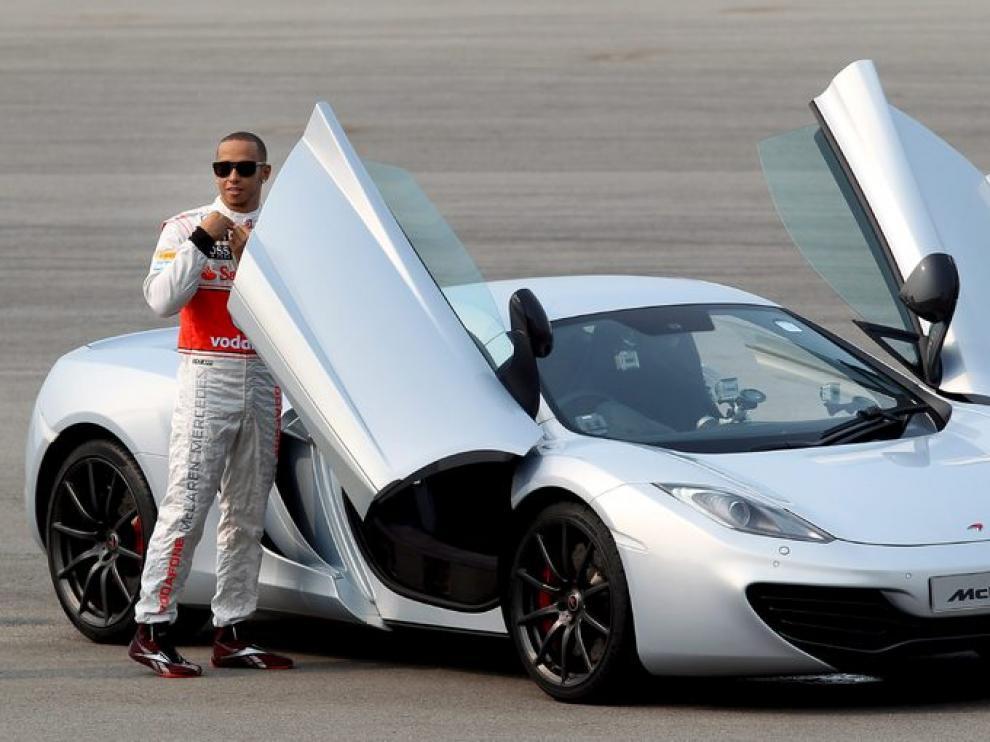 Lewis Hamilton, en una camapaña promocional
