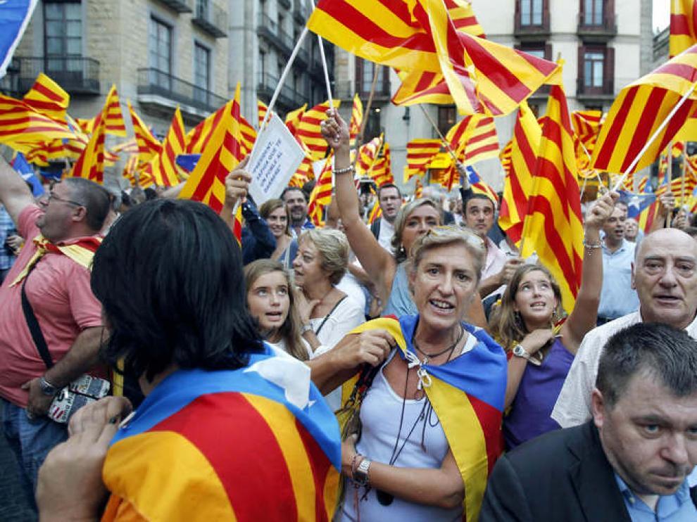 Recibimiento a Mas en Barcelona