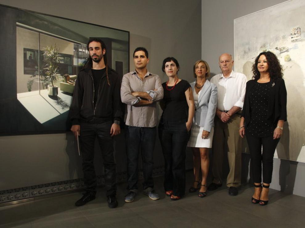 Presentación de la exposición del 'Premio Ibercaja de pintura joven 2012'