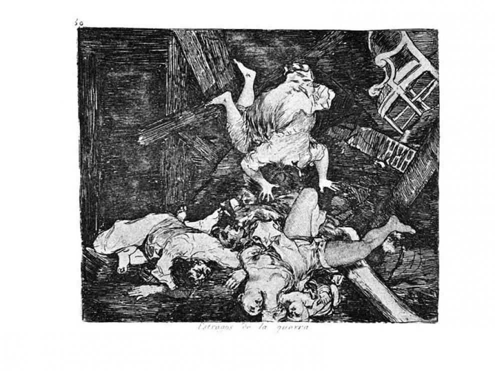 Los desastres de la guerra nº30 'Estragos de la guerra'. Francisco de Goya