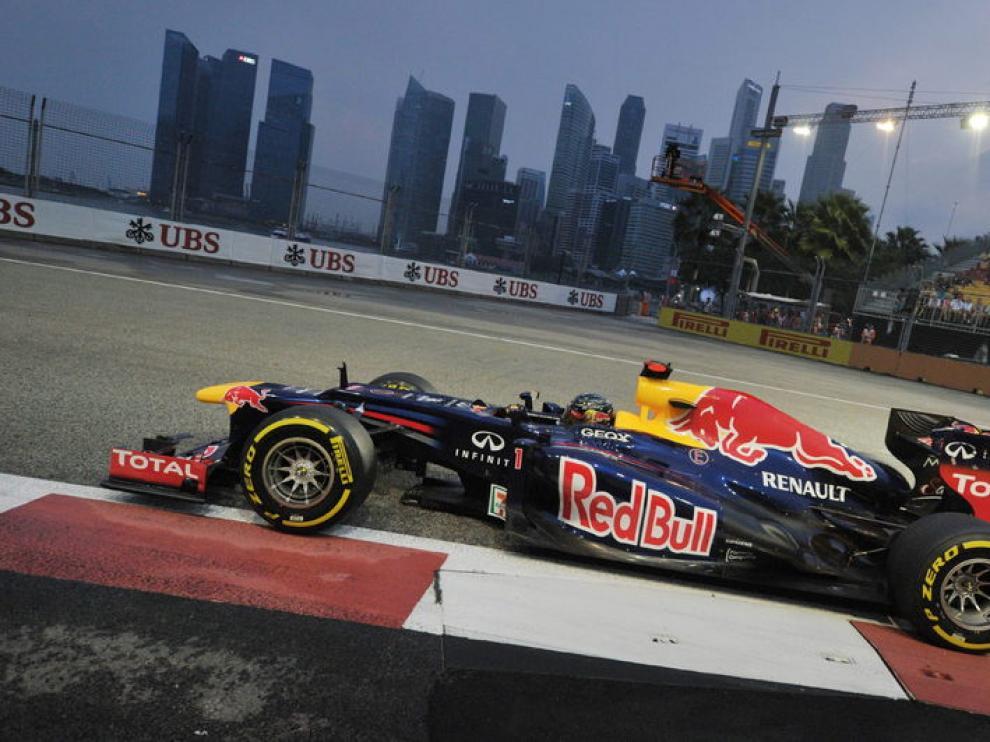Sebastian Vettel hizo el mejor tiempo en los entrenamientos de Singapur