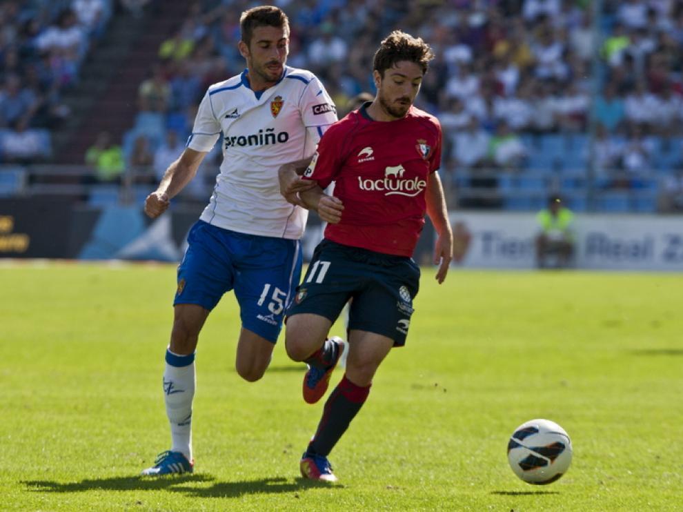 Foto de archivo de un partido entre ambos equipos en La Romareda