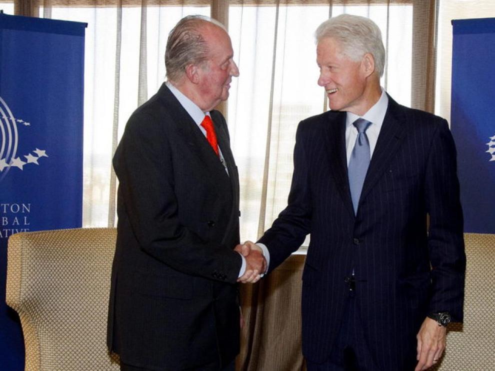 El Rey junto a Bill Clinton
