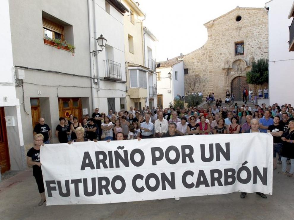Imagen de archivo de una manifestación en Ariño