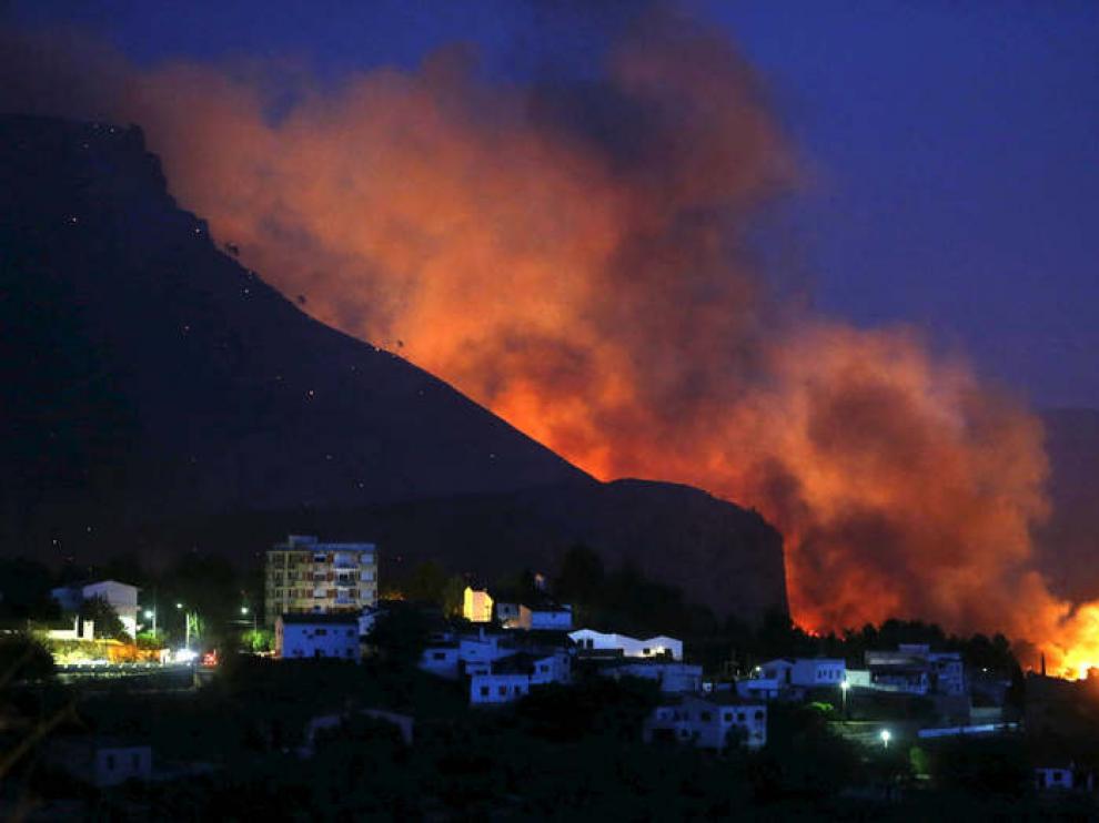 El incendio en Chulilla, Valencia