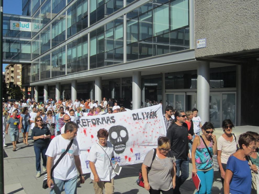 La 'marcha blanca', frente a la Consejería de Sanidad