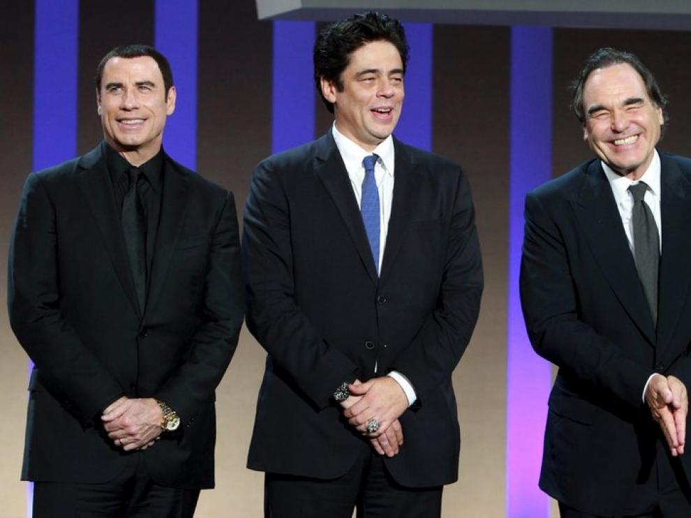 El director y el actor han pasado este domingo por el escenario del Kursaal.