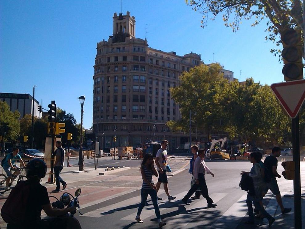 Apagados los semáforos de la Plaza de Paraíso