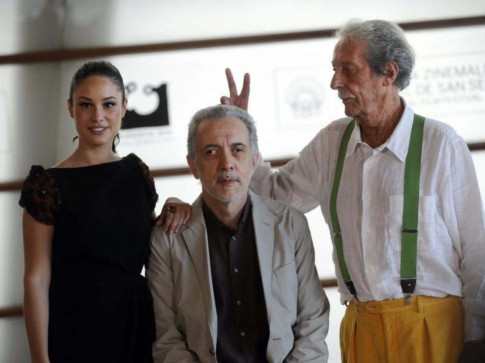Aida Folch, Fernando Trueba y Jean Rochefort