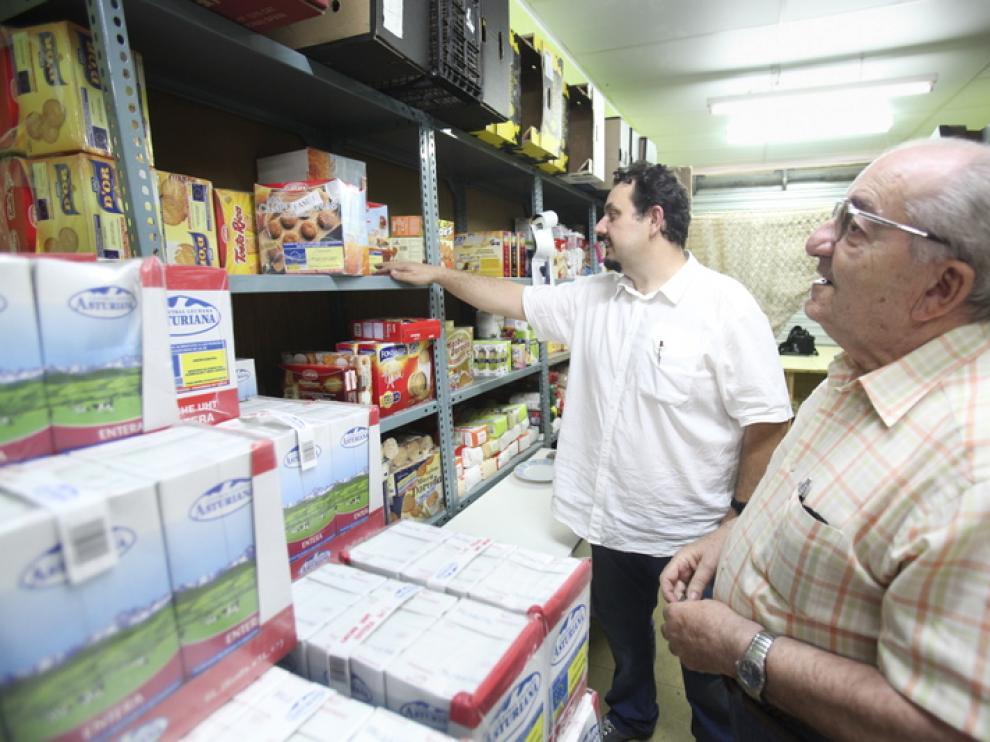 El reparto de alimentos es una de las actividades de Cáritas.