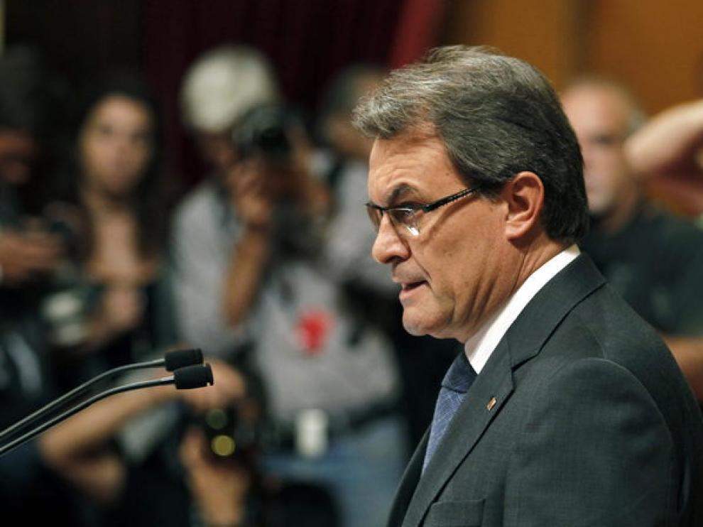 Artur Mas ha hablado en el Parlamento de Cataluña