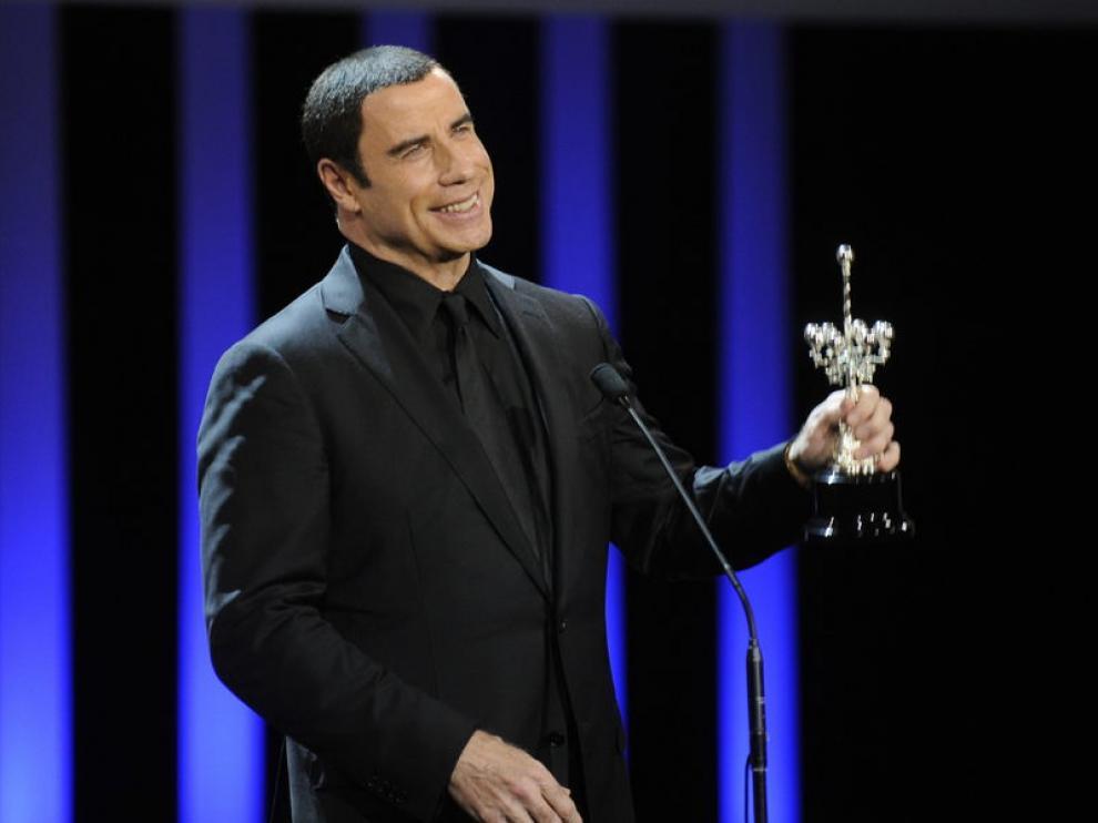 El actor John Travolta en San Sebastián