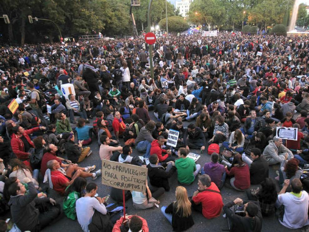 Los manifestantes siguen mostrando una actitud pacífica en Neptuno