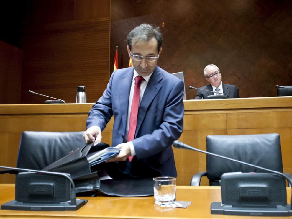 José Luis Saz, consejero de Hacienda del Gobierno de Aragón