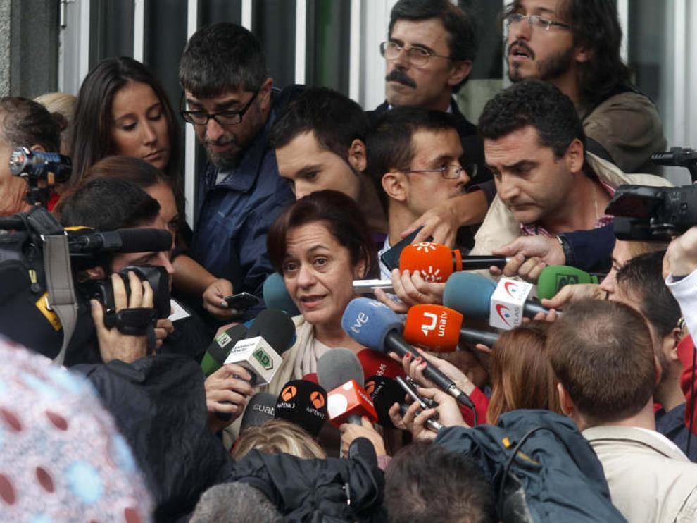 La abogada de Ruth Ortiz a la salida del juzgado