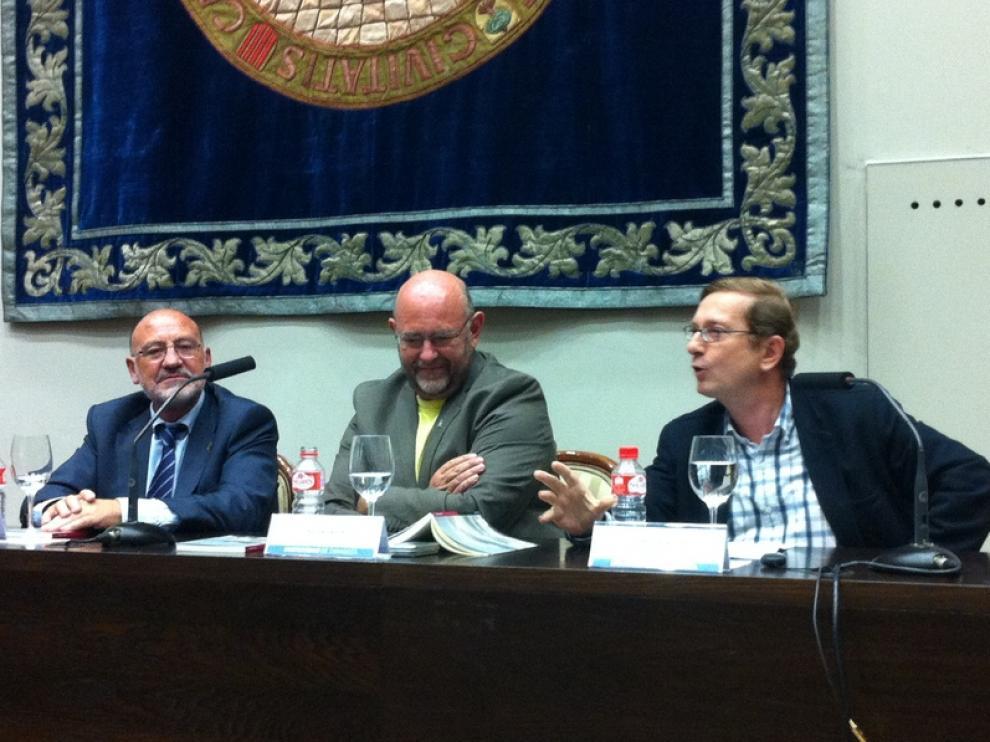 José Luis Mainar, Antón Castro y José Luis Melero