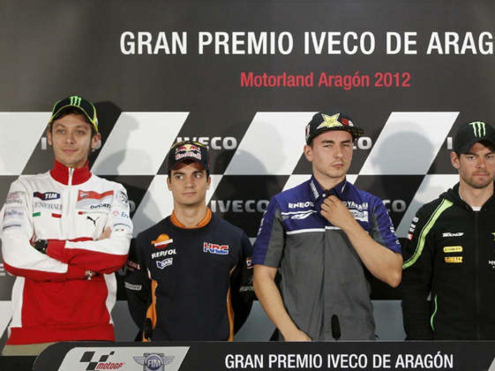 Los pilotos de Moto GP