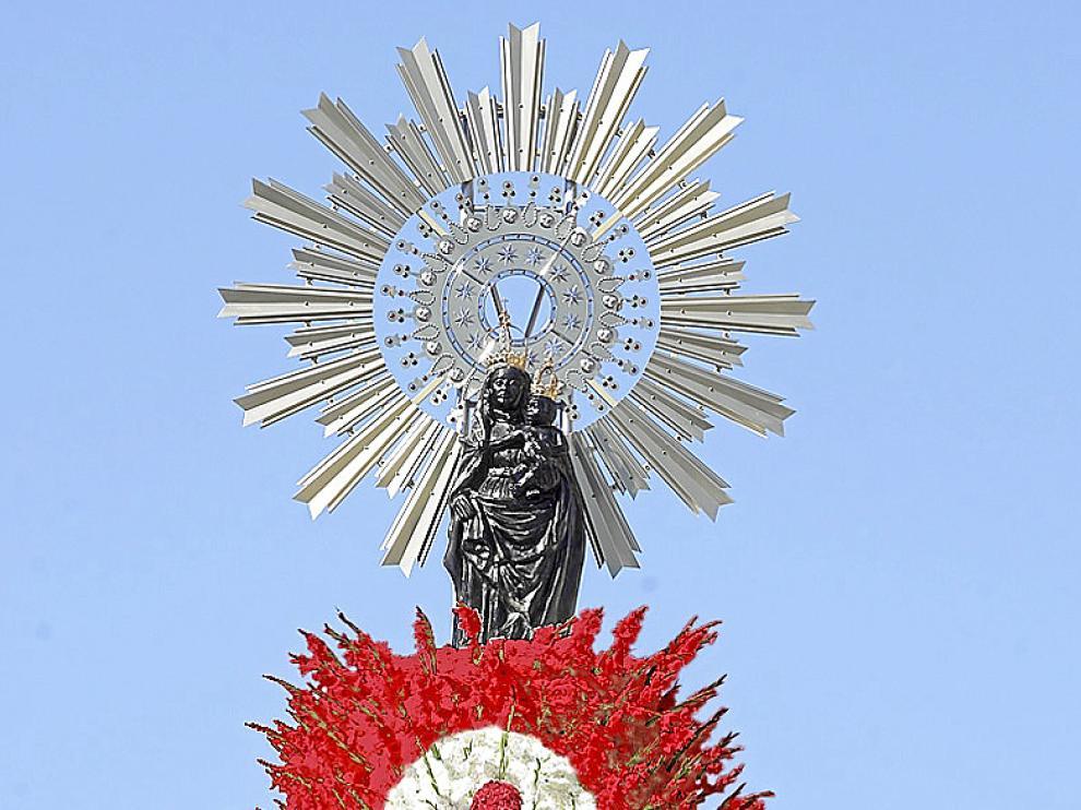 Recreación de la nueva imagen que ofrecerá la Virgen tras la ofrenda de 2012.