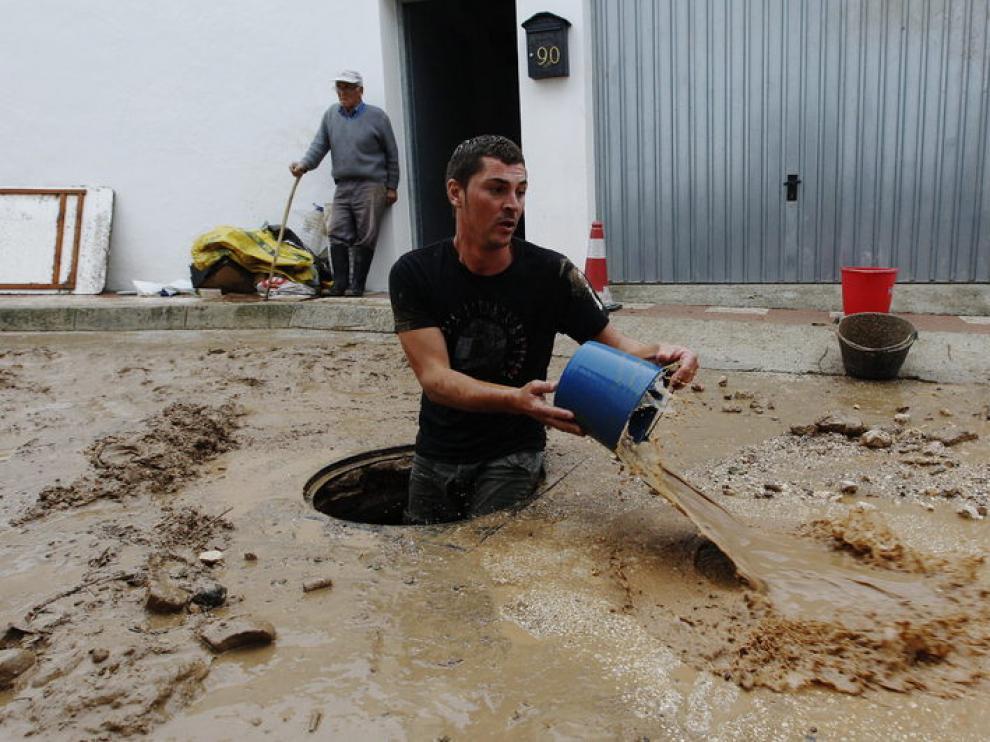 Las inundaciones han afectado también a la comarca de Antequera (Málaga)