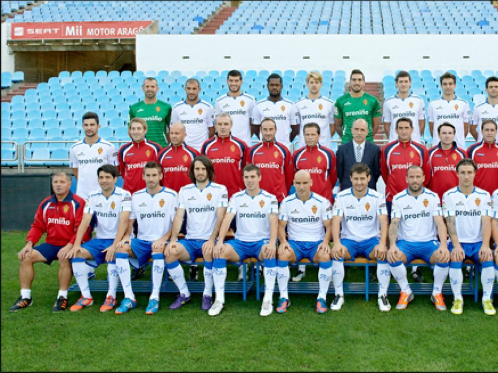 Foto oficial del Real Zaragoza para la temporada 2012-2013