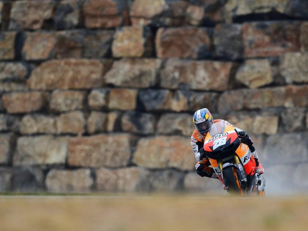 Dani Pedrosa en los entrenamientos del GP de Motorland