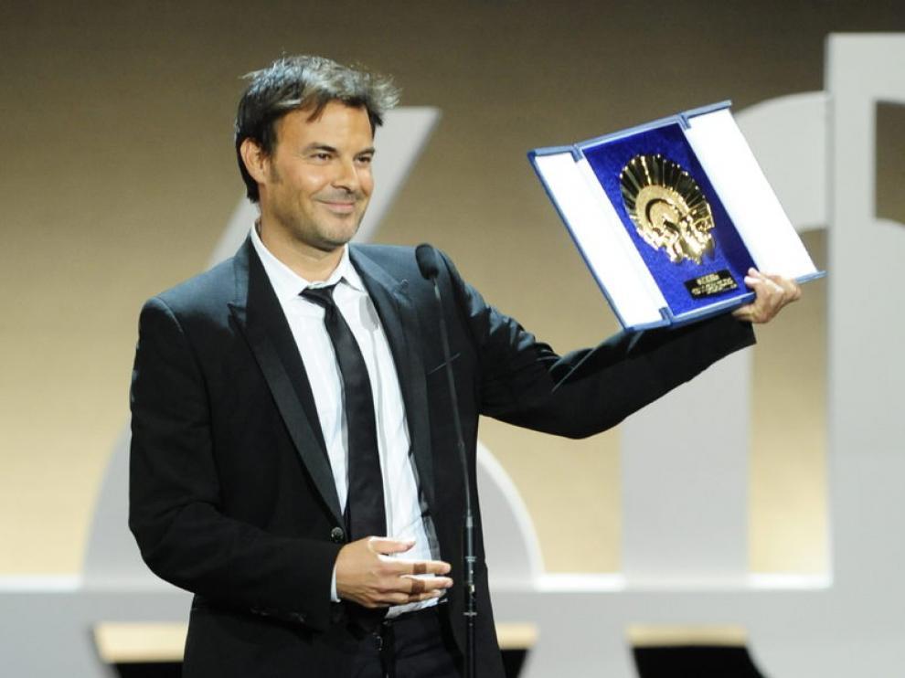 François Ozon con la Concha de Oro