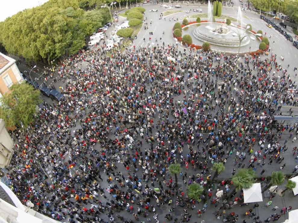 Protesta en el centro de Madrid