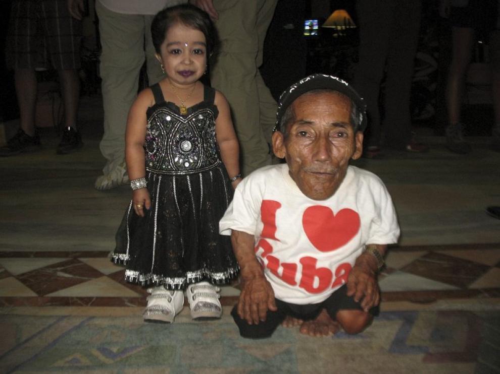 El hombre y la mujer más pequeños del mundo,