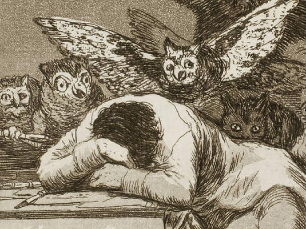 'El sueño de la razón produce monstruos', grabado de la serie Los Caprichos.