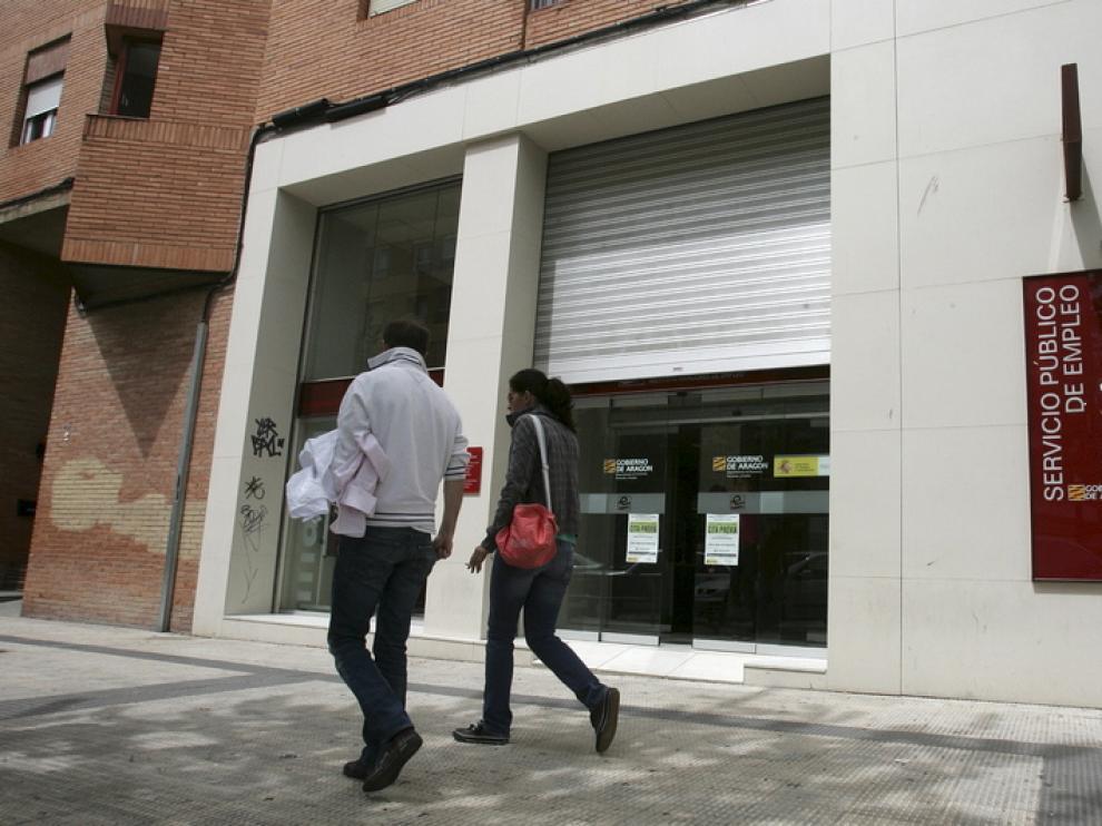 Una oficina del Inaem, en Huesca