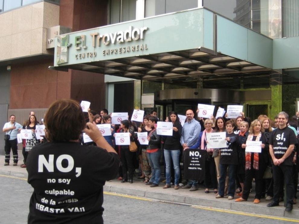 Acto de protesta convocado por el comité de empresa.