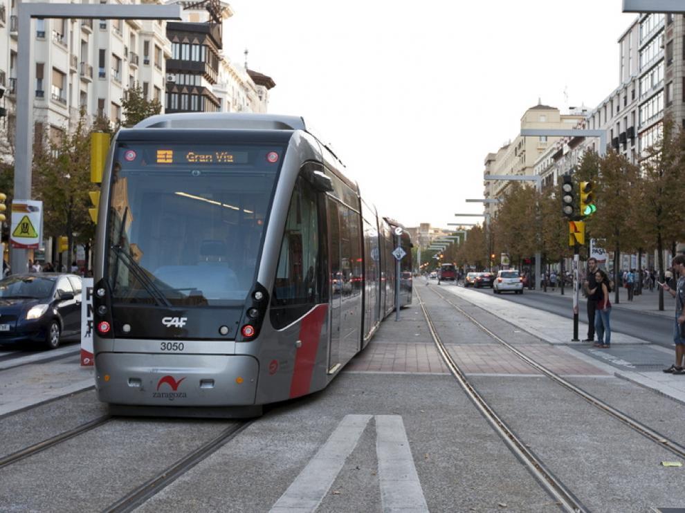 Tranvía en pruebas en Independencia, en septiembre