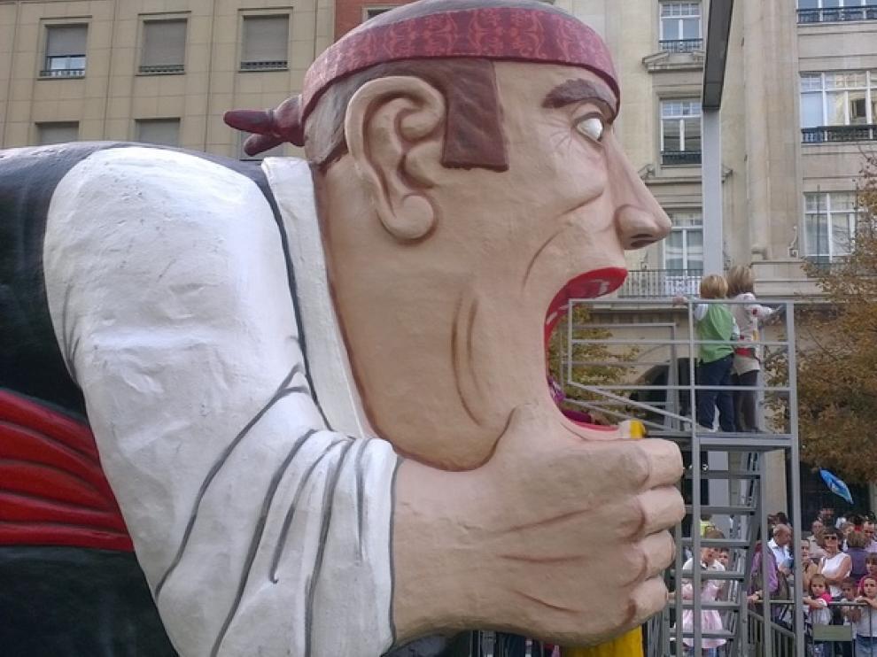 Un tobogán de 5 metros que ha gustado mucho al público infantil