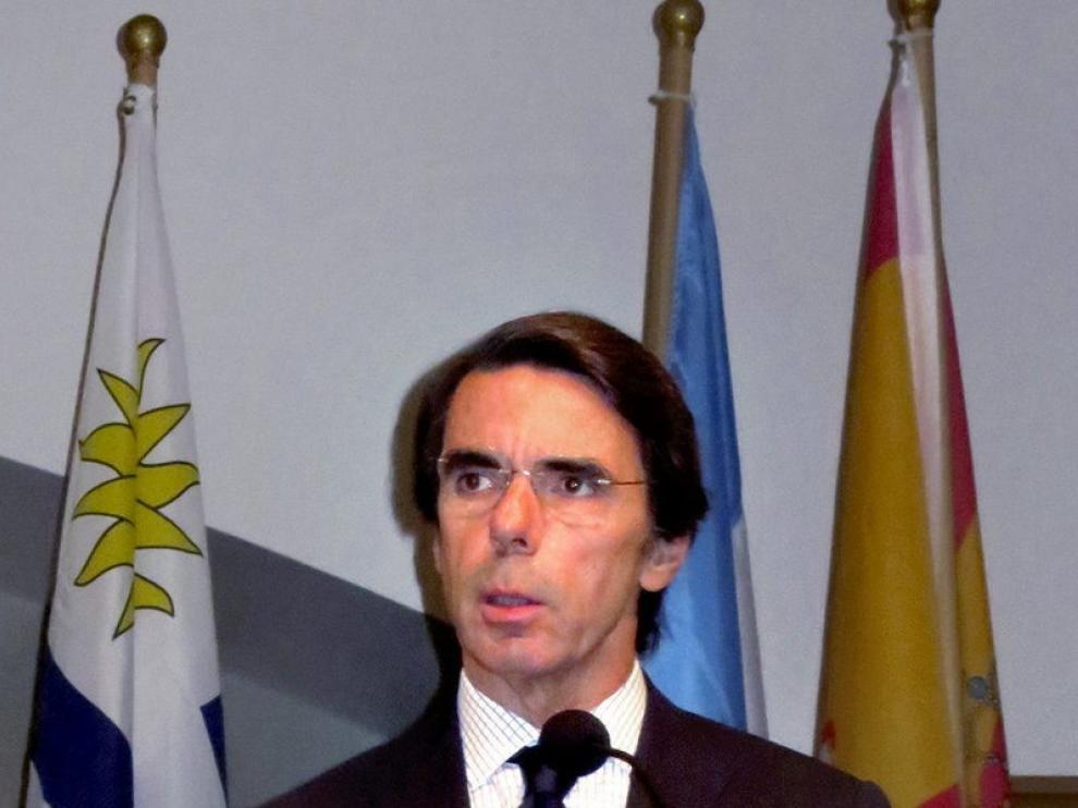 José María Aznar, durante su intervención