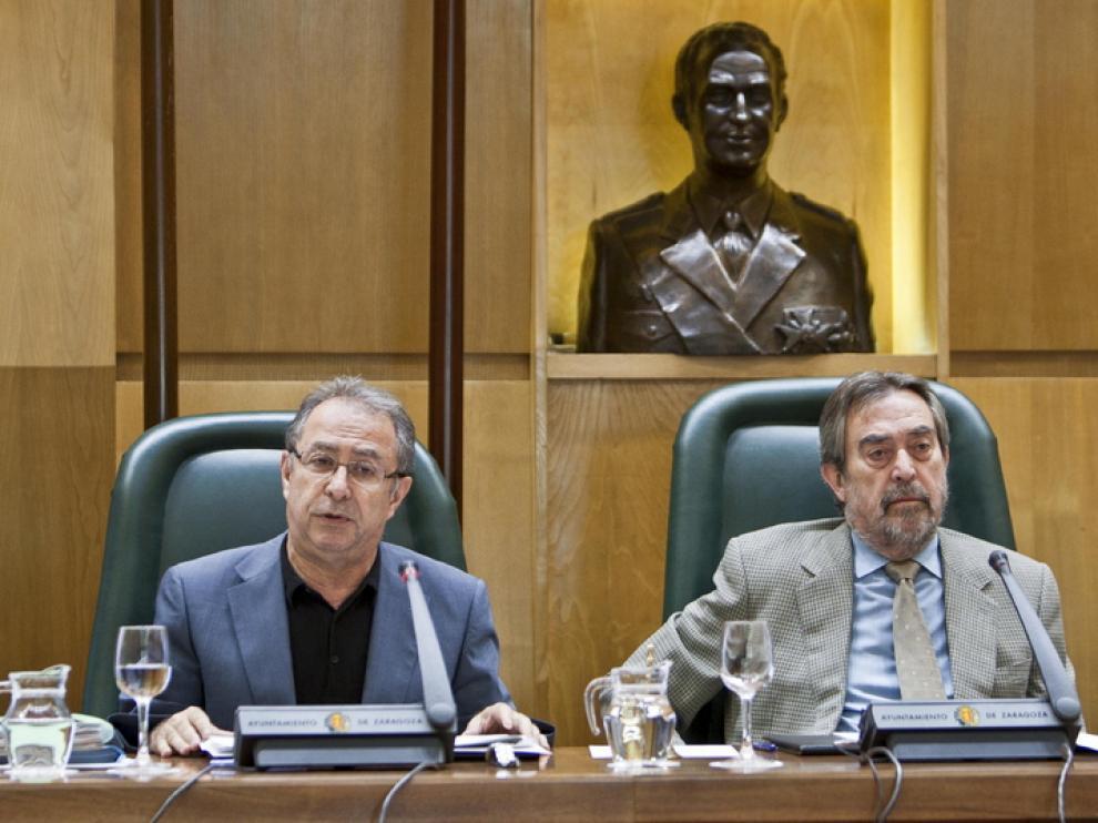 Imagen de archivo de Gimeno y Belloch durante un Pleno
